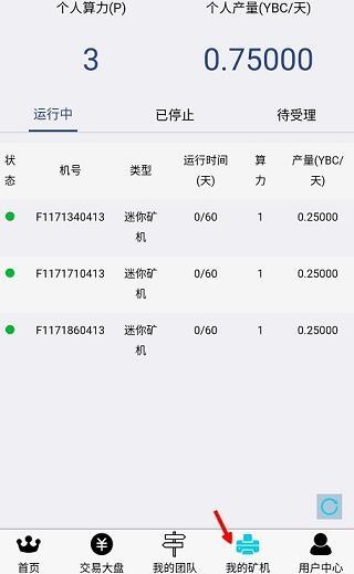 亿维链YBC,送3台矿机,总产45币,直接卖 第3张